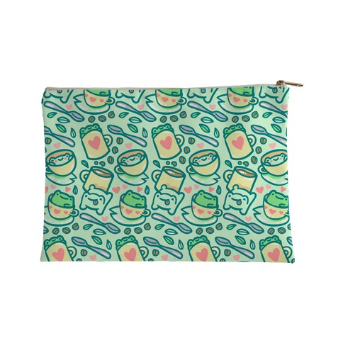 Coffee And Tea Frogs Accessory Bag