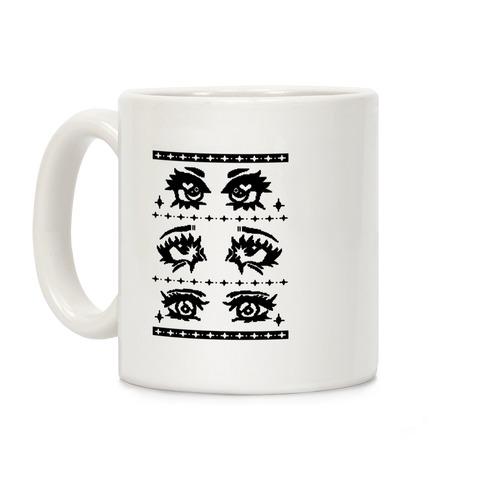 Anime Eyes Ugly Sweater Coffee Mug