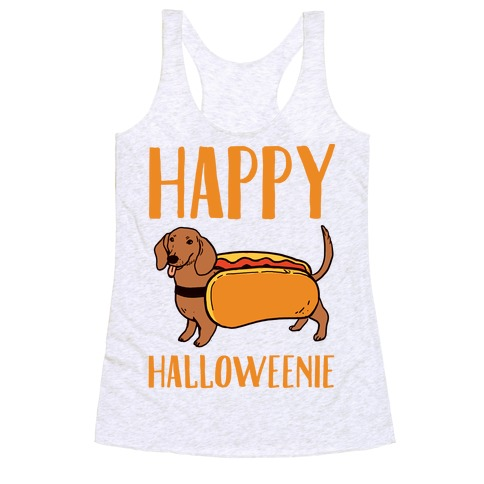Happy Halloweenie Racerback Tank Top