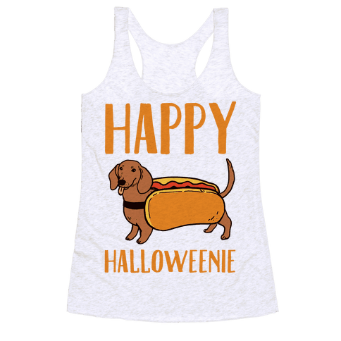 Happy Halloweenie Racerback Tank Top