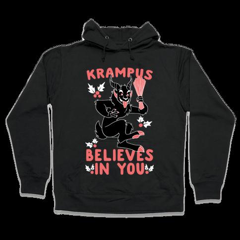 Krampus Believes in You Hooded Sweatshirt