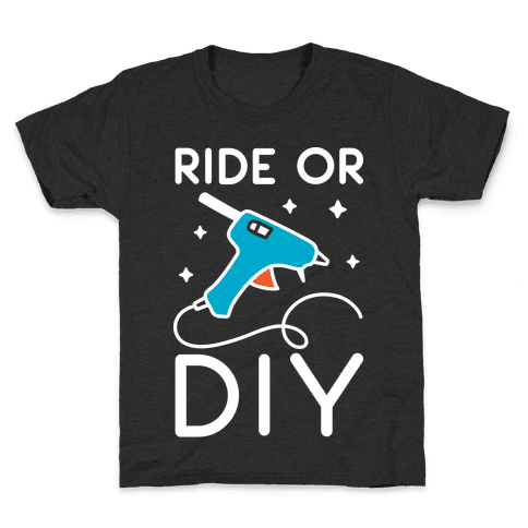 Ride Or DIY Pair 1/2 Kids T-Shirt
