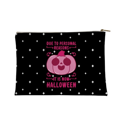 Due To Personal Reasons It Is Now Halloween Pumpkin (Pink) Accessory Bag