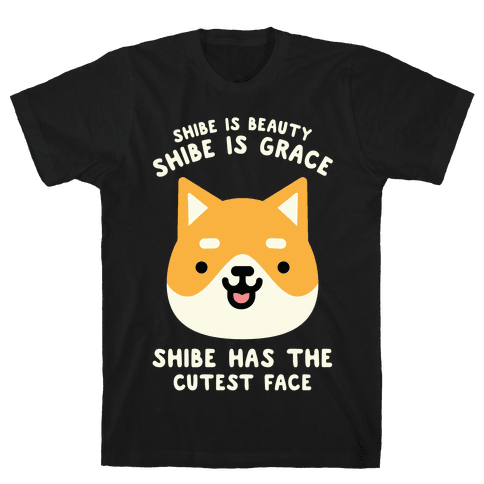 Shibe is Beauty Shibe is Grace Mens T-Shirt