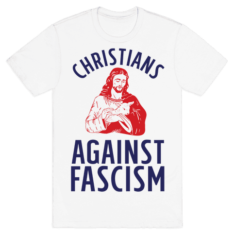 Christians Against Fascism Mens T-Shirt