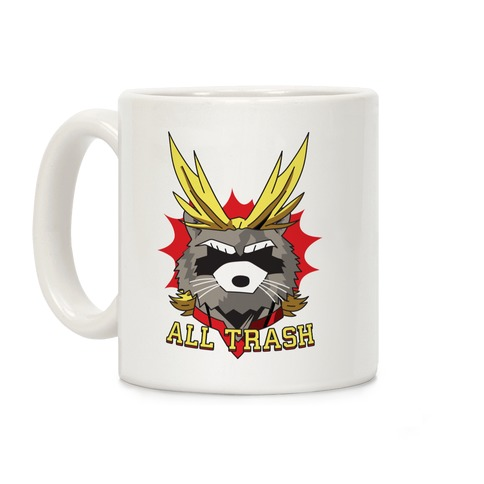 All Trash (All Might Raccoon) Coffee Mug