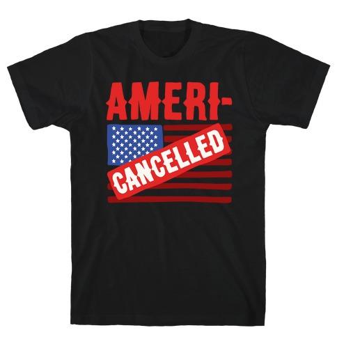 Americancelled White Print T-Shirt