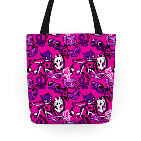 Persona Masks Pattern (Pink) Tote