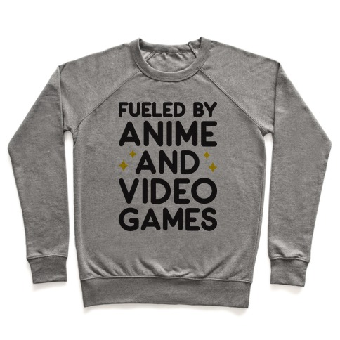 9fb311cf94 Fueled By Anime And Video Games Crewneck Sweatshirt | LookHUMAN