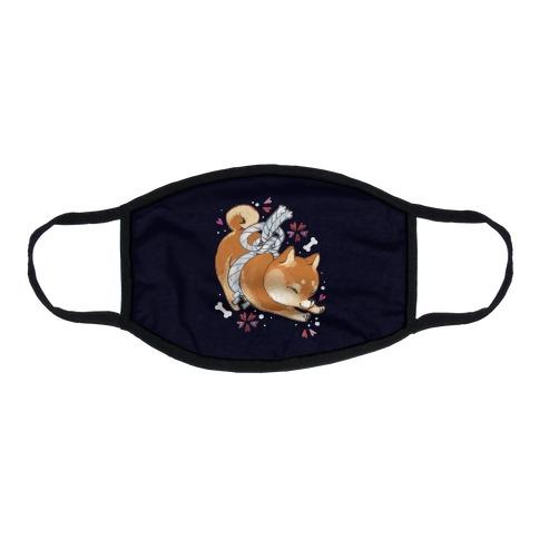 Shiba Inu Dog Flat Face Mask