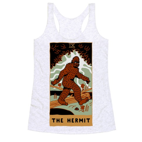 The Hermit (Bigfoot) Racerback Tank Top