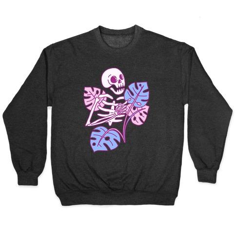 Monstera Skeleton Pullover