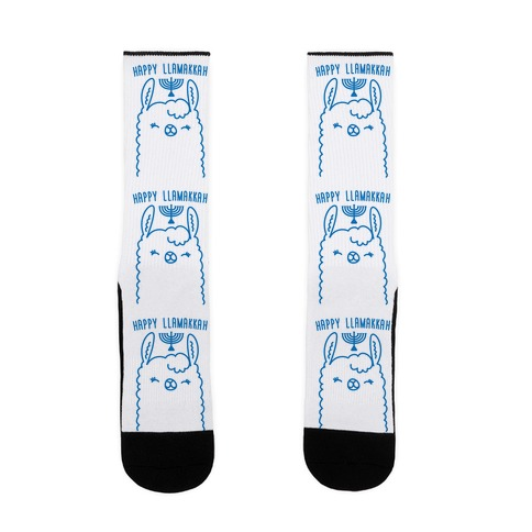 Happy Llamakkah Sock