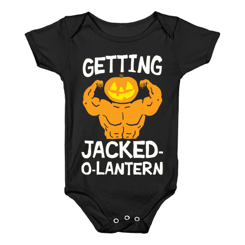 Getting Jacked-O-Lantern Baby Onesy