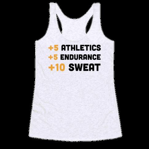 +10 Sweat Racerback Tank Top