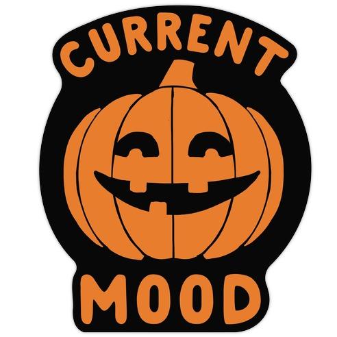Current Mood: Halloween Die Cut Sticker