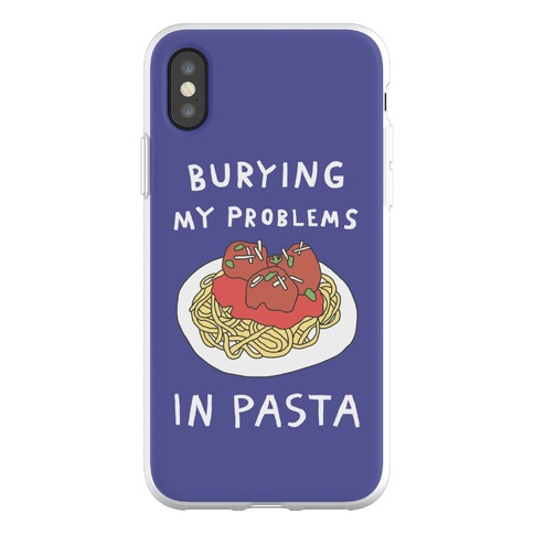 Burying My Problems In Pasta Phone Flexi-Case