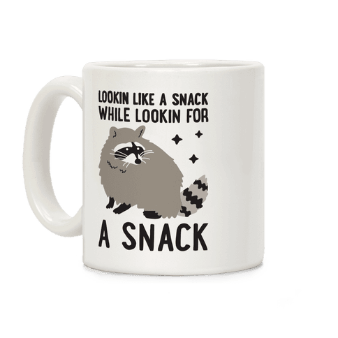 Lookin For A Snack Raccoon Coffee Mug