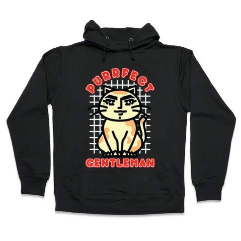 Purrfect Gentleman Hooded Sweatshirt