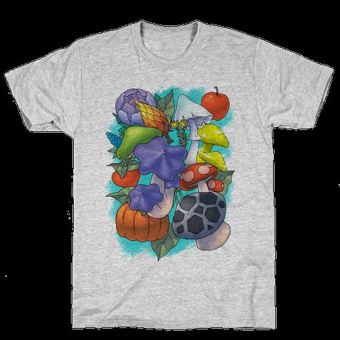 Hylian Shrooms and Veggies Mens T-Shirt