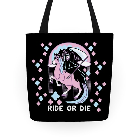 Ride or Die - Grim Reaper and Unicorn Tote