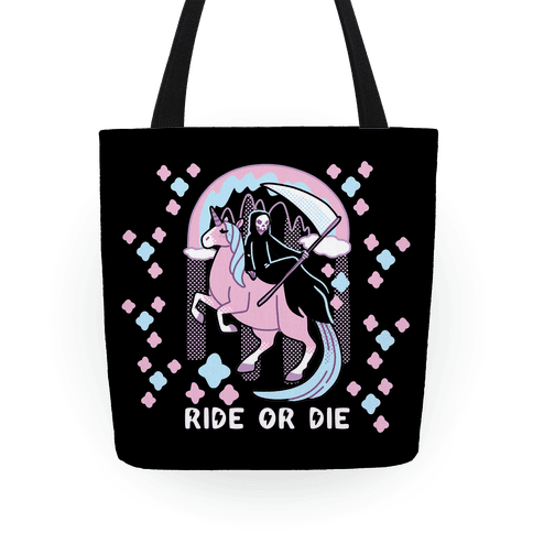 Ride or Die - Grim Reaper and Unicorn Tote