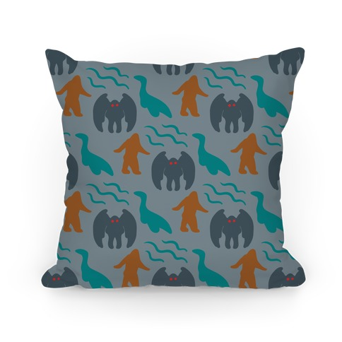 Cryptid Pattern Pillow