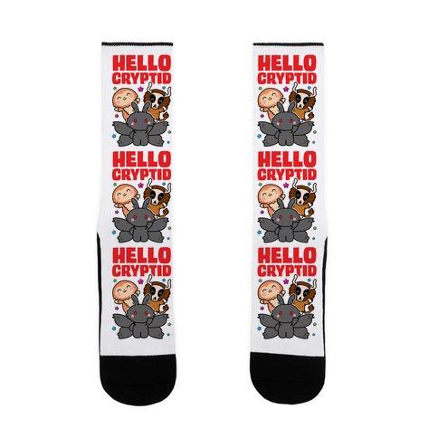 Hello Cryptid Sock