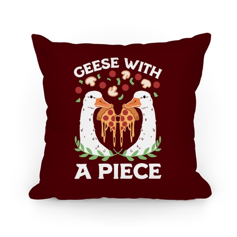 Geese With A Piece Pillow