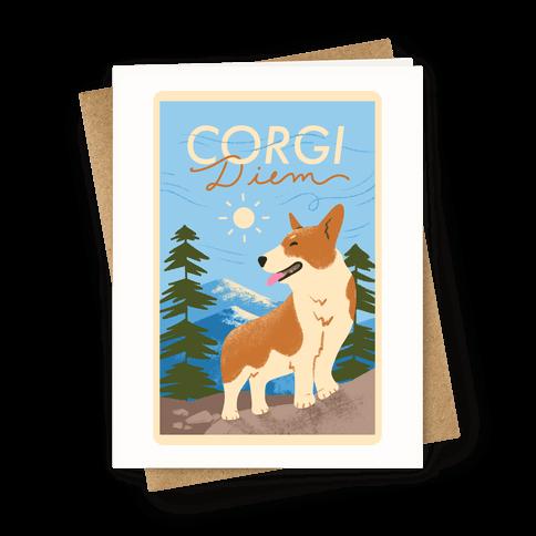 Corgi Diem Greeting Card
