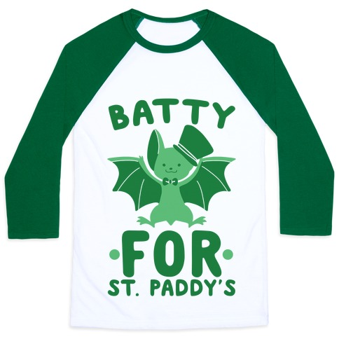 Batty for St. Paddy's Baseball Tee