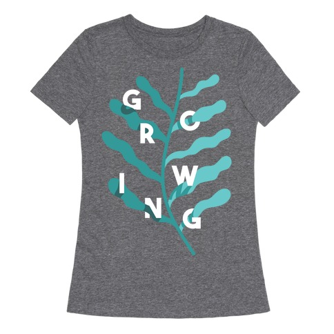 Growing Plant Frond Womens T-Shirt