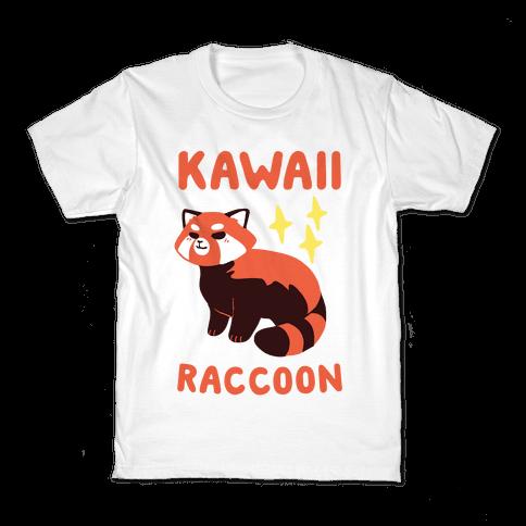 Kawaii Raccoon - Red Panda Kids T-Shirt