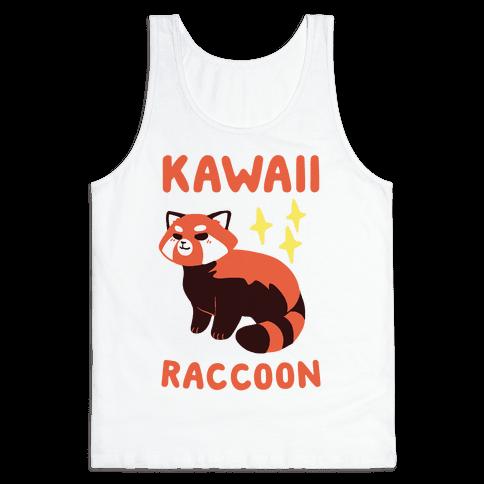 Kawaii Raccoon - Red Panda Tank Top
