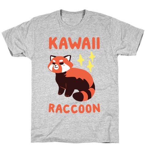 Kawaii Raccoon - Red Panda T-Shirt