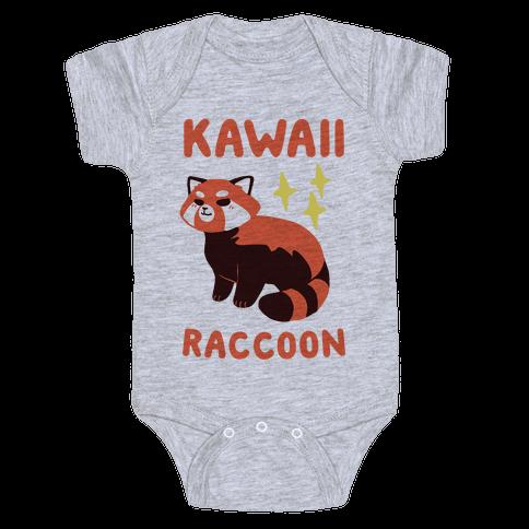 Kawaii Raccoon - Red Panda Baby Onesy