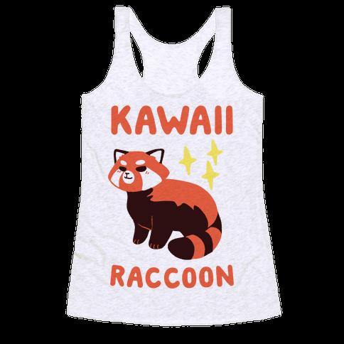 Kawaii Raccoon - Red Panda Racerback Tank Top