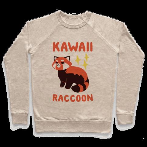 Kawaii Raccoon - Red Panda Pullover