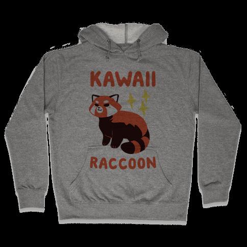 Kawaii Raccoon - Red Panda Hooded Sweatshirt