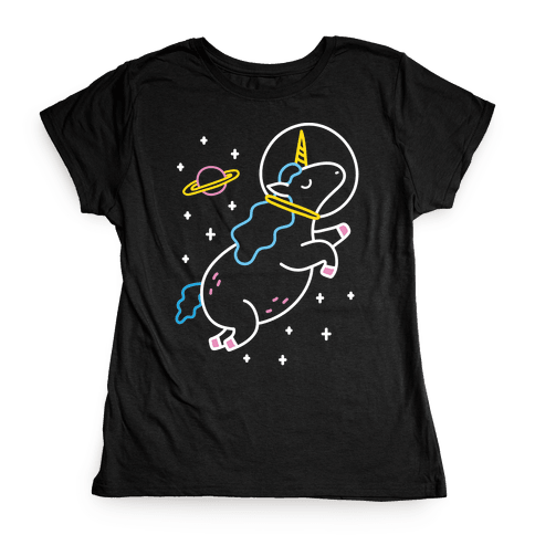 Space Unicorn Womens T-Shirt