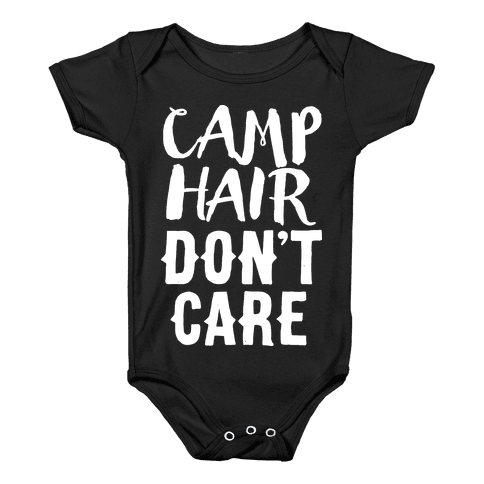 Camp Hair Don't Care Baby Onesy