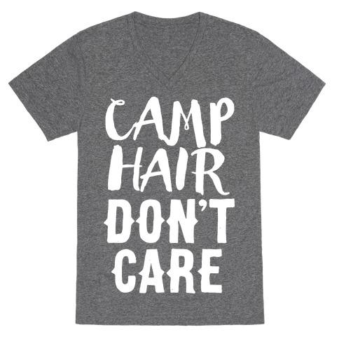Camp Hair Don't Care V-Neck Tee Shirt