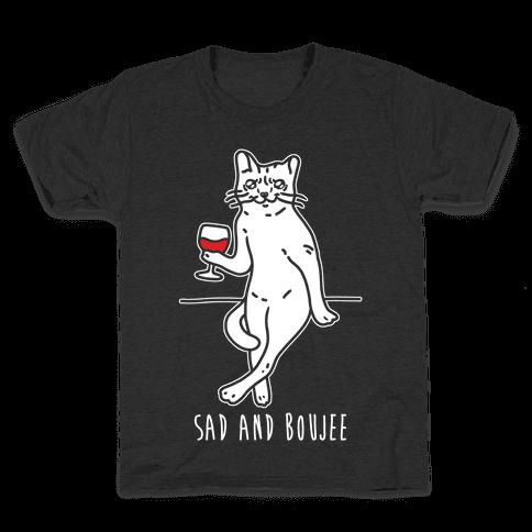 Sad and Boujee Crying Cat Kids T-Shirt