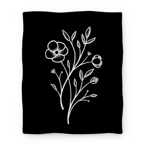 Wildflower Stippled Tattoo Blanket