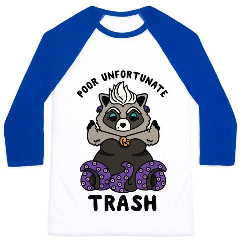 Poor Unfortunate Trash Raccoon Baseball Tee