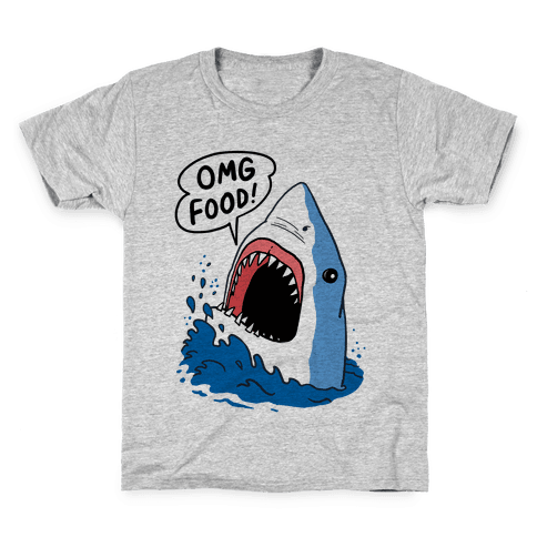 Omg Food Shark Kids T-Shirt