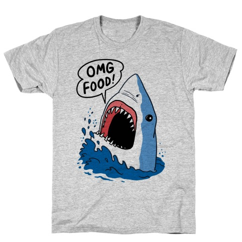 Omg Food Shark T-Shirt