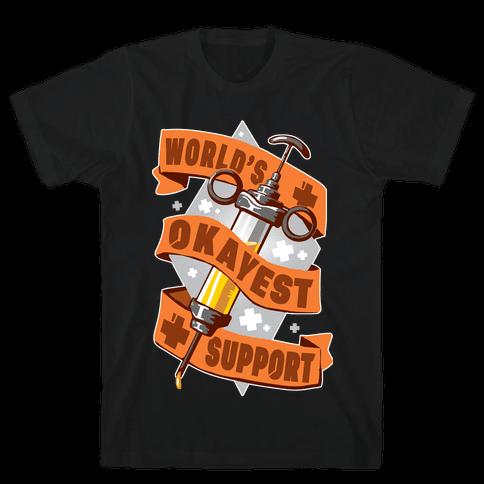 World's Okayest Support Mens/Unisex T-Shirt