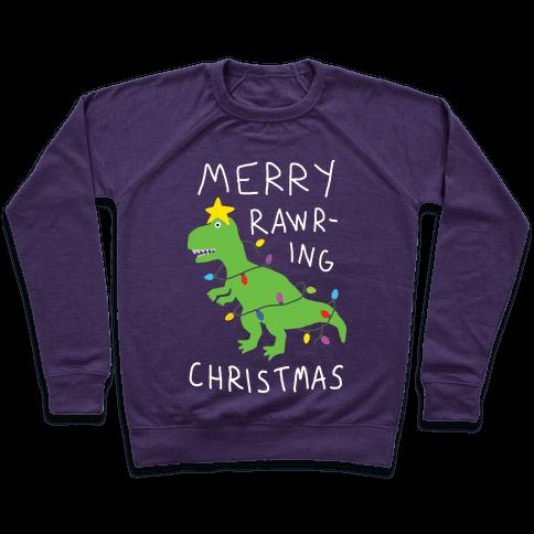 Merry Rawring Christmas Dinosaur Pullover