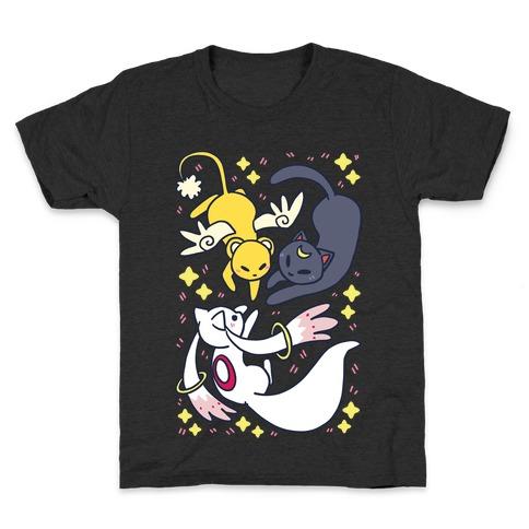 Magical Mascots - Luna, Kero and Kyubey Kids T-Shirt